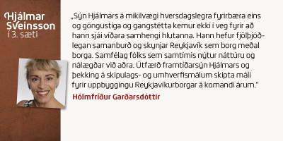 Hólmfríður Garðarsdóttir
